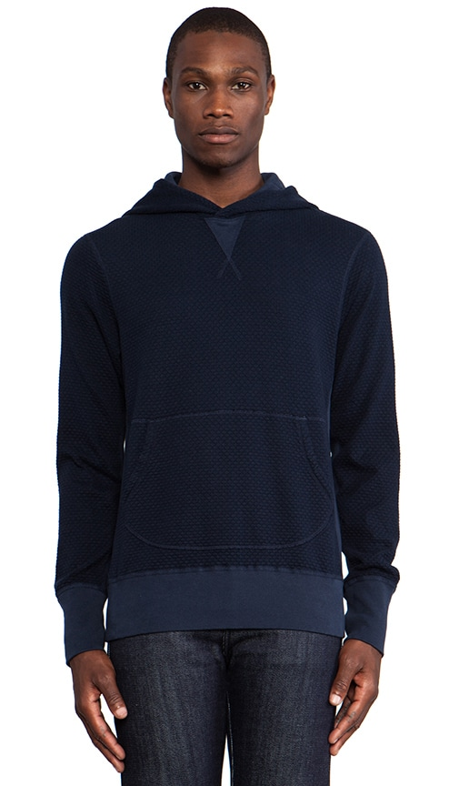 Wave Knit Hooded Sweater