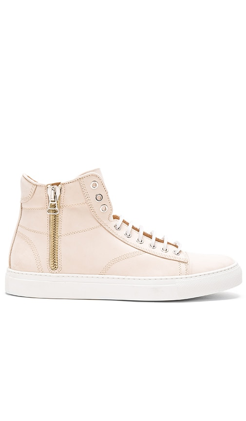 wings + horns Leather Hi Top Sneaker in Sand & Sand & White