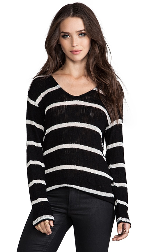 Stripe Boucle Ezra Long Sleeve