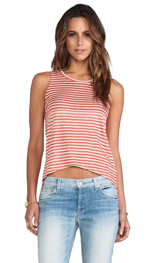 Linen Stripe Sabrina Tank