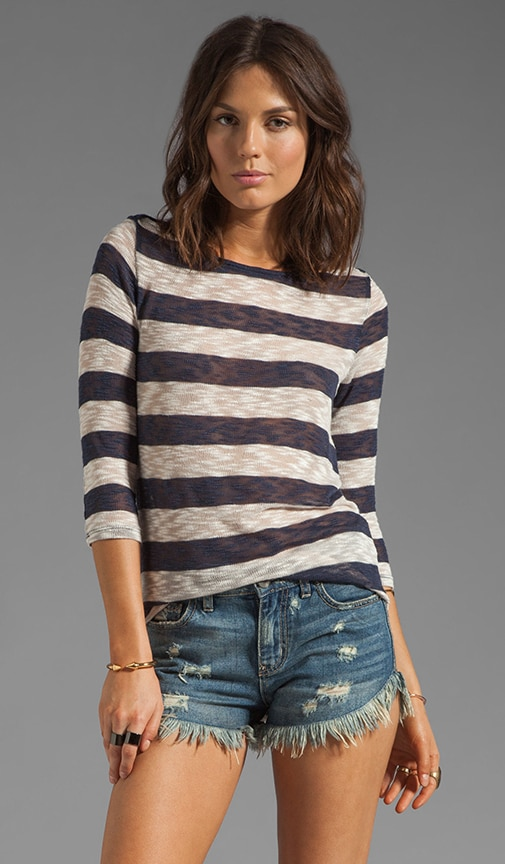 Gemma Tee Sheer Boucle Striped Tee