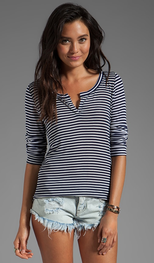 Stripe 2x1 Rib Harlow Long Sleeve