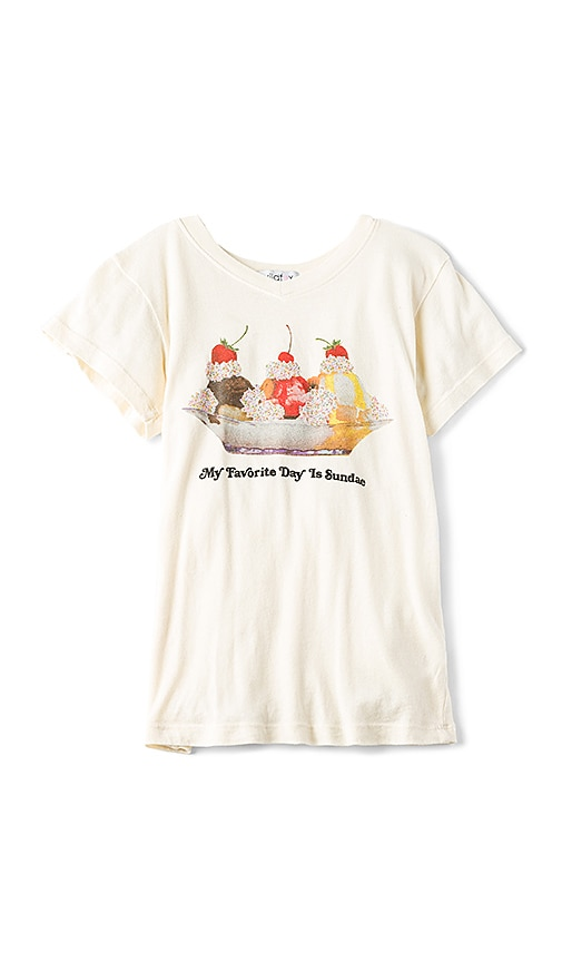 Wildfox Couture Tourist Sundae Tee in Beige