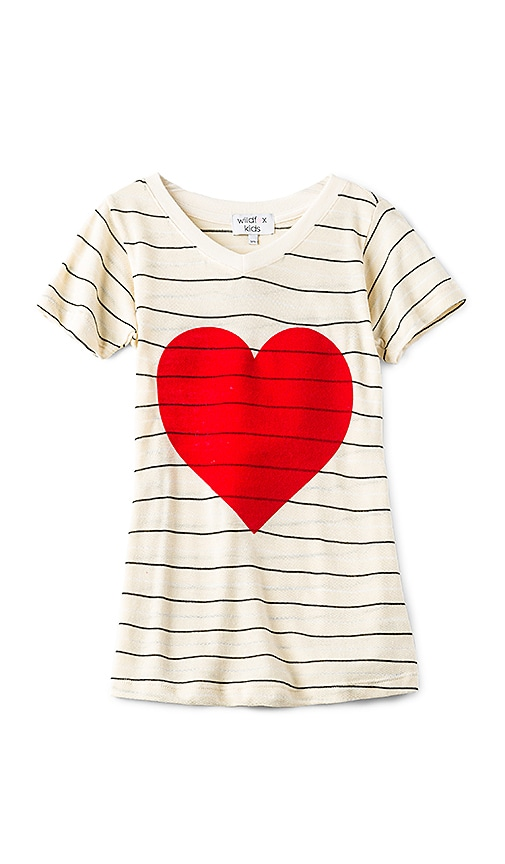 Wildfox Couture Tourist Vintage Hearts Top in Beige