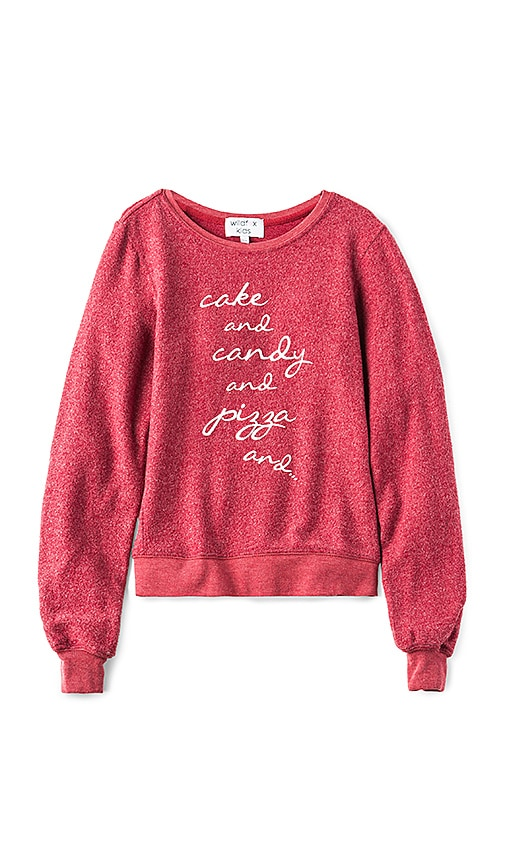 Wildfox Couture Baggy Beach Cake Candy Top in Rust