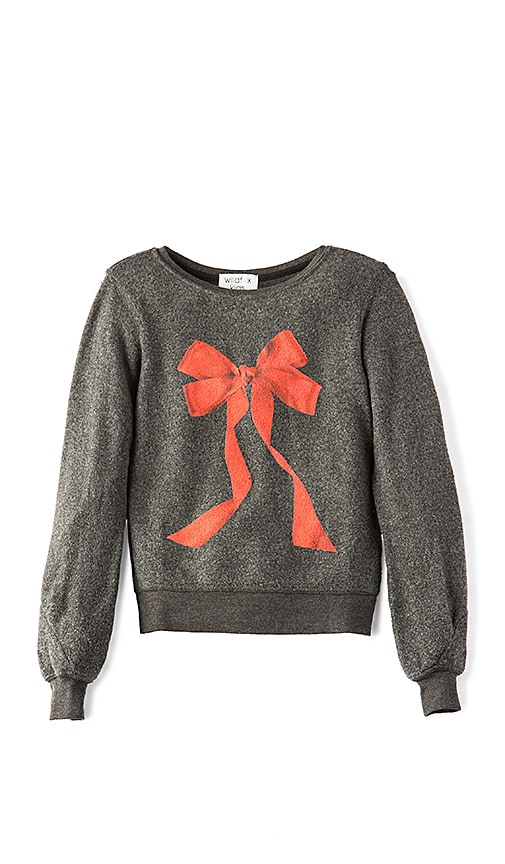 Wildfox Couture I'm the Present Baggy Beach Jumper in Charcoal