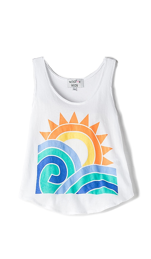 Wildfox Couture Sun and Surf Tank in White