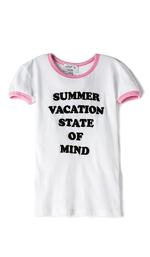 Wildfox Couture Schools Out Top in White