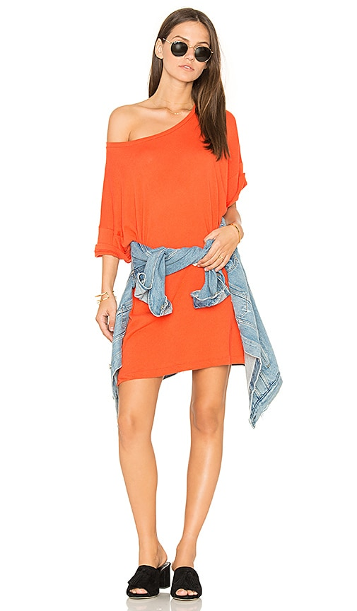 Wildfox Couture T-Shirt Dress in Orange