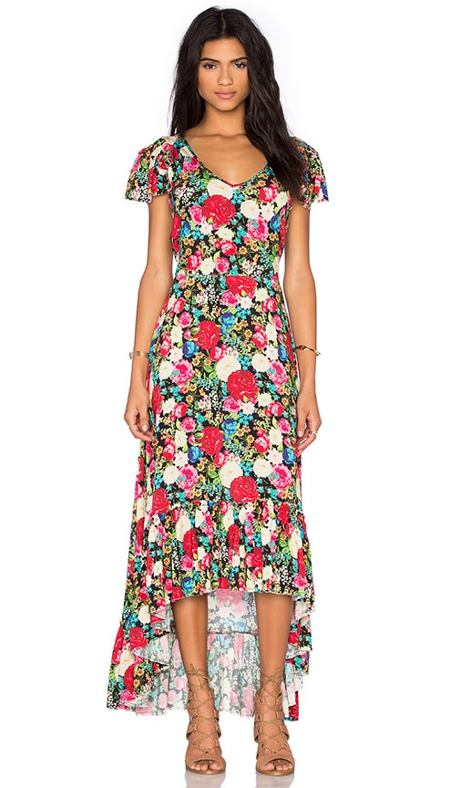 Wildfox Couture Floral Maxi Dress in Black