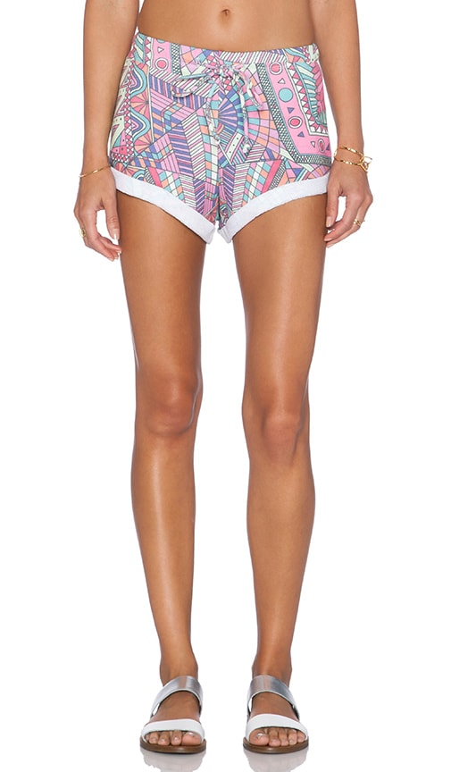 Wildfox Couture Third Eye Gym Short in Multi