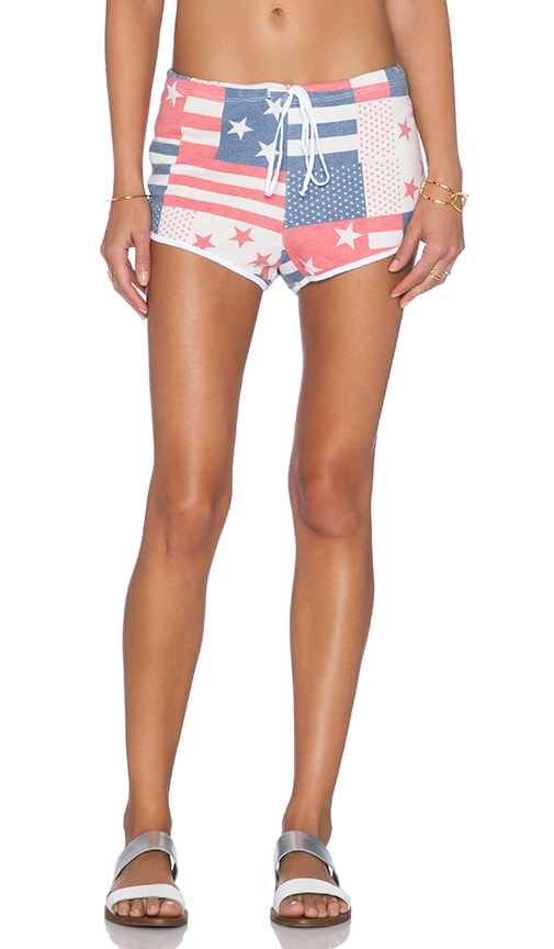 Wildfox Couture Pool Party Shorts in US Flag Print