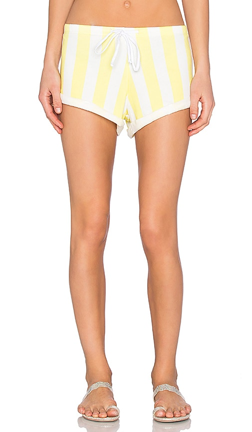 Wildfox Couture Gym Short in Yellow