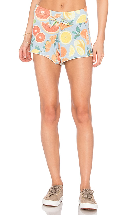 Wildfox Couture Fresh Citrus Shorts in Blue