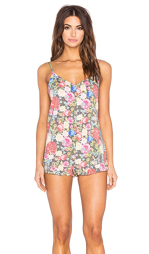 Wildfox Couture Ruffle Romper in Pink