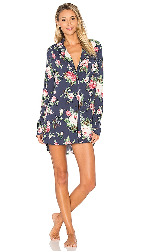 Wildfox Couture Gypsy Rose Shirt Dress in Navy