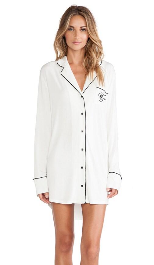 71c0a65f7197 Wildfox Couture Good Night Sleep Shirt in Vanilla | REVOLVE