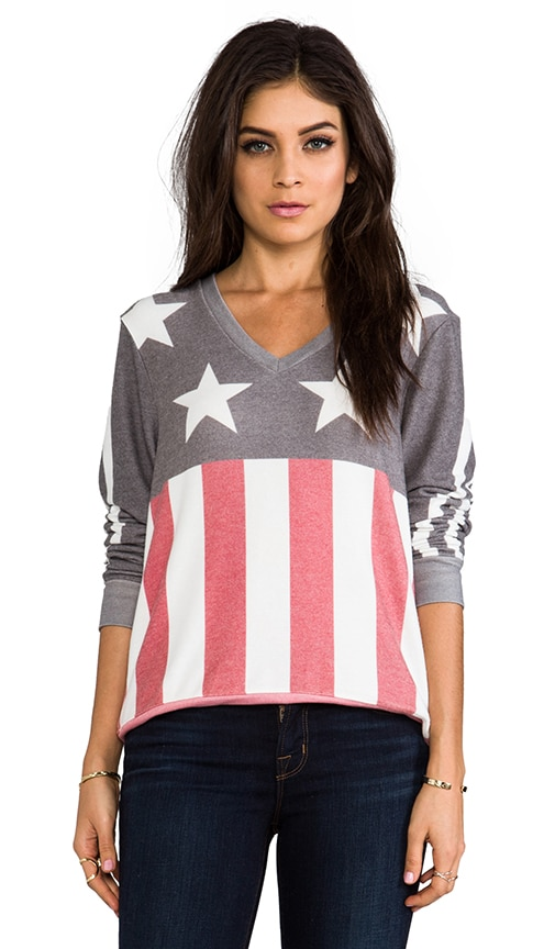 Stars and Stripes Baggy Beach V-Neck