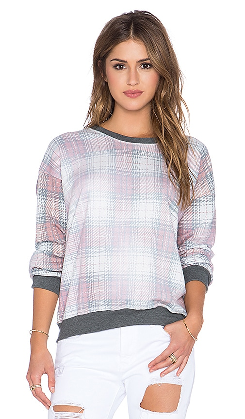 Wildfox Couture Sun Bleached Plaid Pullover in Multi