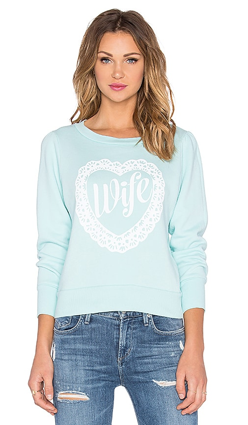 Wildfox Couture Wife Doily Pullover in Something Blue