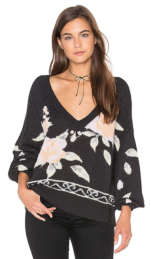 Wildfox Couture Flora Sweater in Black
