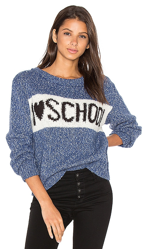 Wildfox Couture School Holiday Sweater in Blue