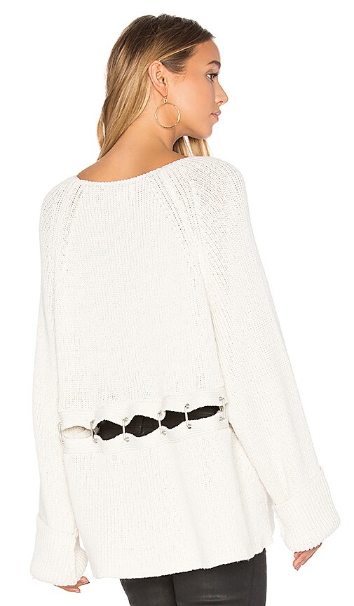 Wildfox Couture Tavin Grace Sweater in Ivory