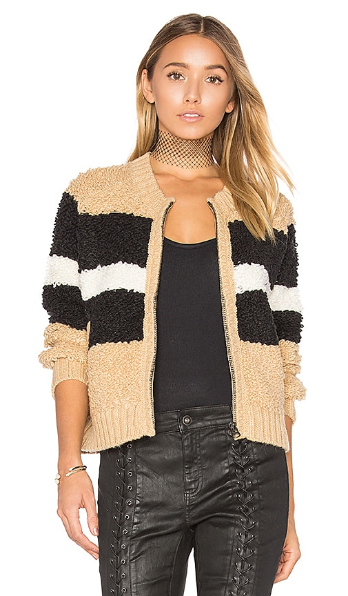 Wildfox Couture Disco Stripe Margot Sweater in Brown