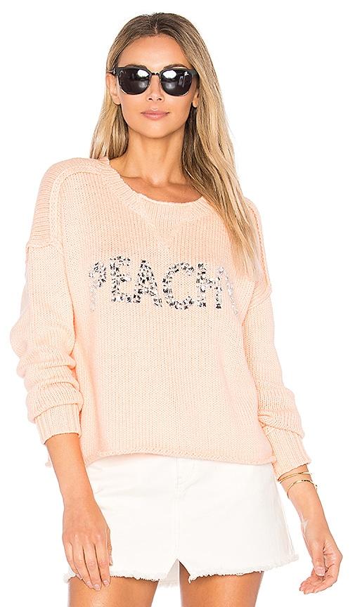 Wildfox Couture Peachy Sweater in Peach