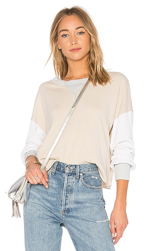 Wildfox Couture Colorblock Sweatshirt in Gray