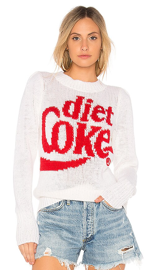Wildfox Couture Diet Coke Pullover Sweater in White