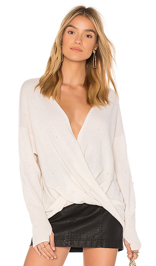 Wildfox Couture Pearl Pullover in Ivory