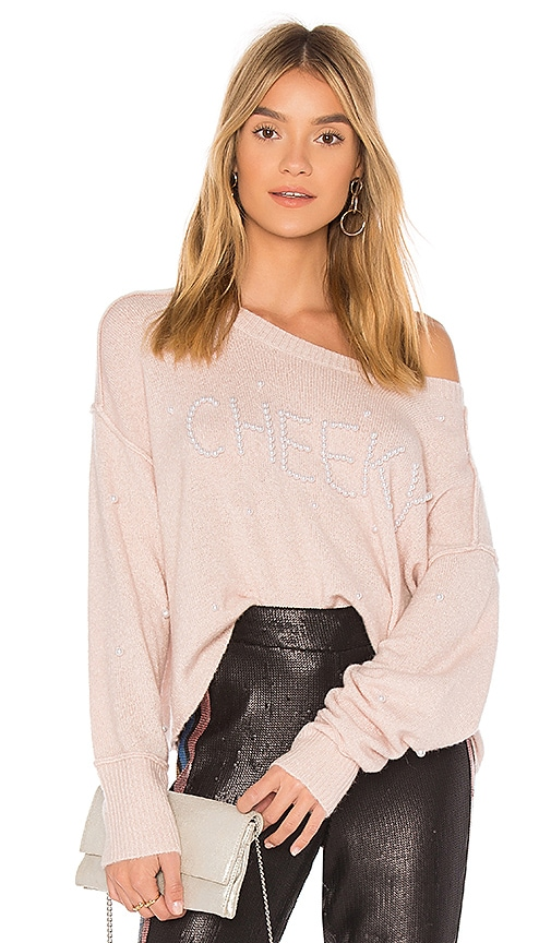 Wildfox Couture Cheeky Pullover Sweater in Pink