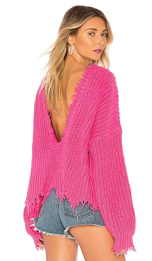 Wildfox Couture X REVOLVE Palmetto Sweater in Fuchsia