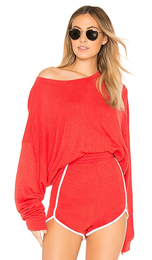 Wildfox Couture Solid Top in Red
