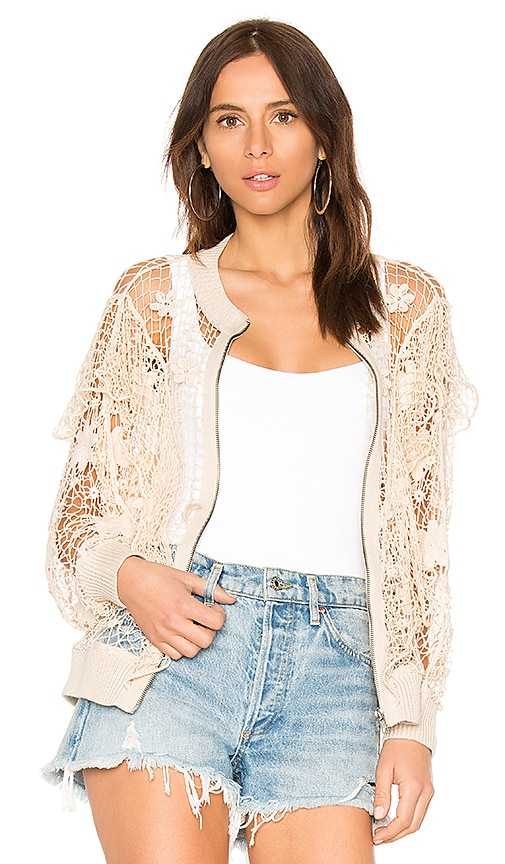 Wildfox Couture Daisies Cardigan in Beige