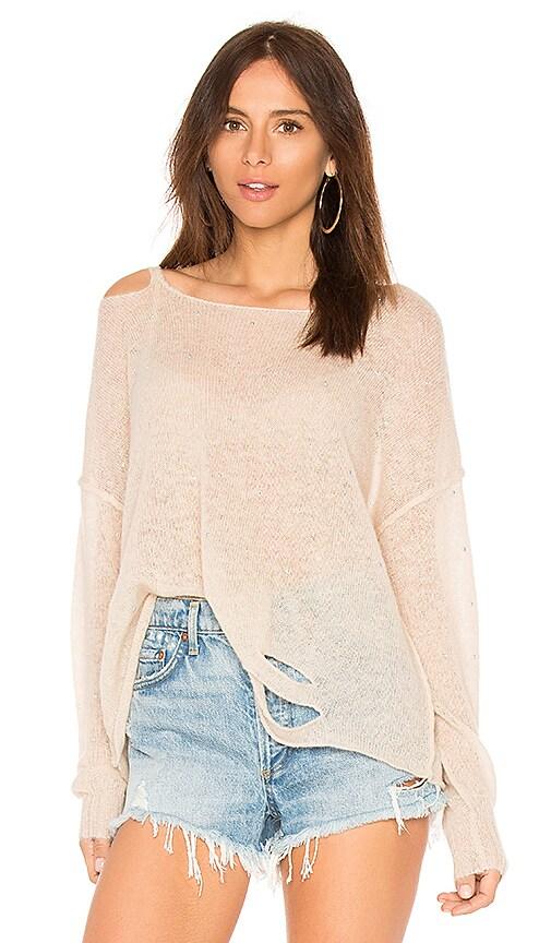 Wildfox Couture Solid Sweatshirt in Beige