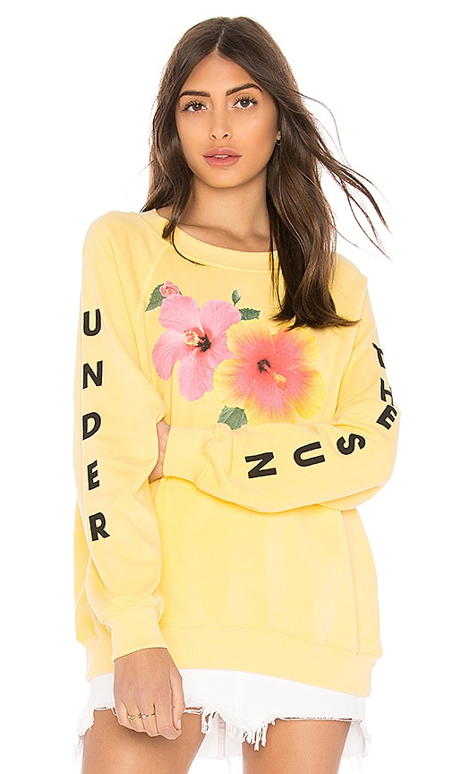 Wildfox Couture Under The Sun Sommers Sweater in Yellow