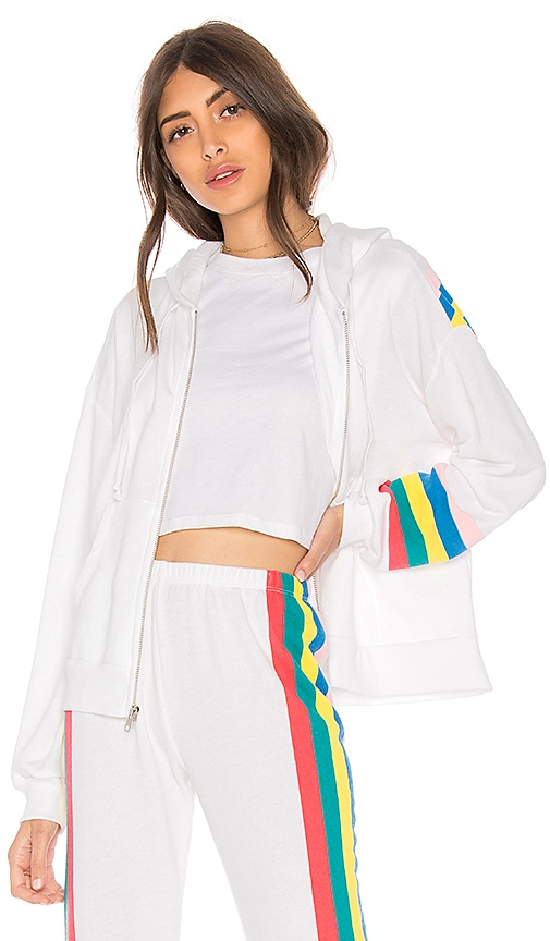 Wildfox Couture Spectrum Marquis Zip Hoodie in White