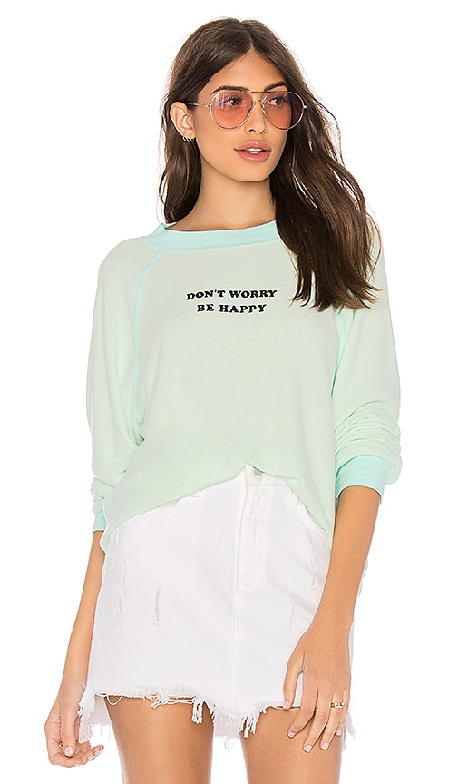 Wildfox Couture Be Happy Sommers Sweater in Mint