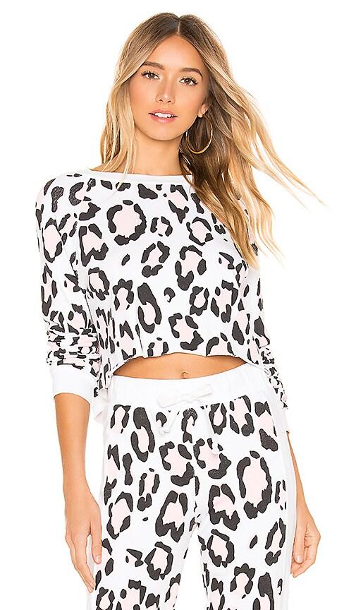 Blush Leopard Beach House Sweatshirt
