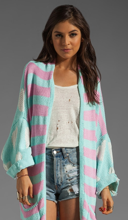 White Label American Love Slouch Cardi