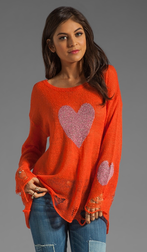 White Label Happy Heart Lennon Sweater