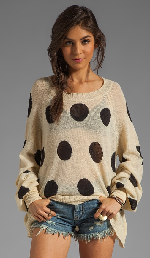 White Label Polka Dot It Pfeiffer Sweater