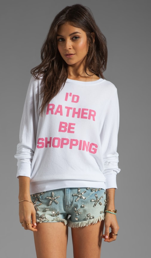 Rather Be Shopping Baggy Beach Jumper
