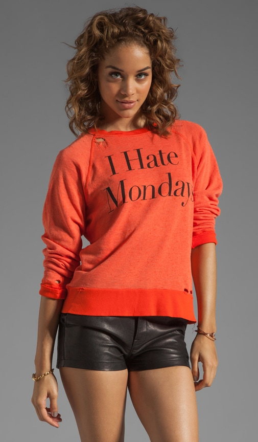 I Hate Mondays Destroyed Sweater