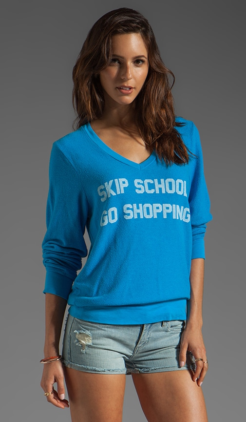 Skip School V Neck Baggy Beach Jumper