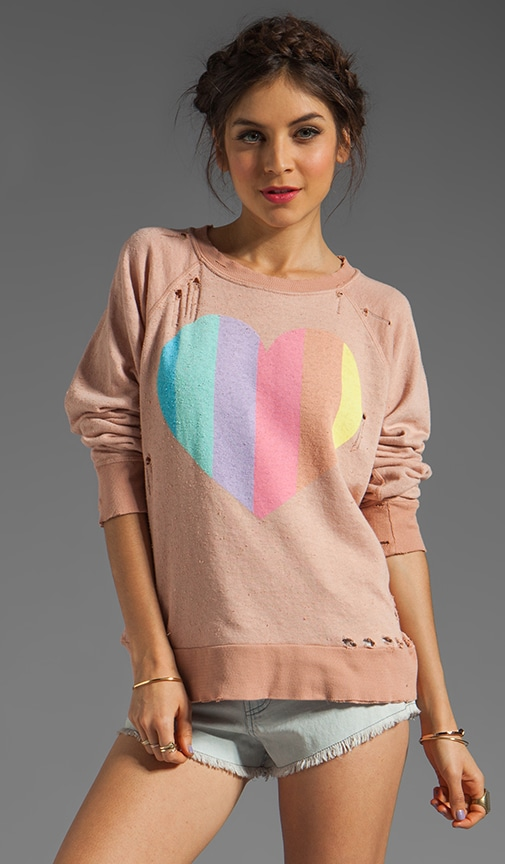 Prism Heart Destroyed Sweatshirt