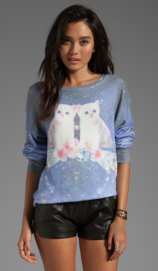 Fortunes Fool Space Kitten Baggy Beach Jumper