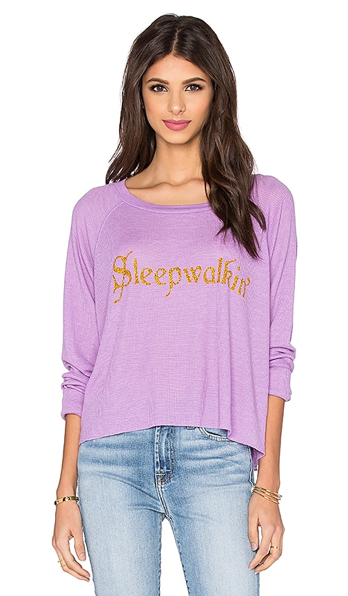 Wildfox Couture Sleep Walkin' Sweatshirt in Purple